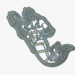 Download 3D print files Cookie Cutter Newt King the little Mermaid Cookie Cutter The Little Mermaid King Triton, ELREYSALE