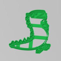 Download 3D printer templates Cookie Cutter Dinosaur Peppa Pig Cookie Dinosaur, ELREYSALE
