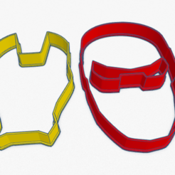Download 3D printing templates Cookie Cutter IronMan Superhero Cortante Galletita Iron Man Superheroes , ELREYSALE