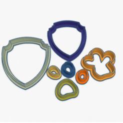 Captura de Pantalla 2020-05-03 a la(s) 01.24.40.png Download STL file Cookie Cutter Shield Paw Patrol Cortante Galletita Escudo • 3D printing model, ELREYSALE