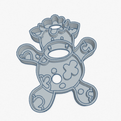 Download STL Cookie Cutter Little Cow Cortante Galletita Vaca Vaquita, ELREYSALE