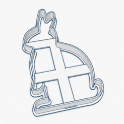 Captura de Pantalla 2020-04-12 a la(s) 22.48.25.png Download STL file COOKIE CUTTER RABBIT SILHOUETTE EASTER CUTTER EASTER RABBIT • 3D printable object, ELREYSALE