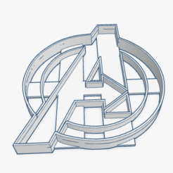 Download 3D printing models Cookie Cutter Avengers Logo Cortante Galletita , ELREYSALE