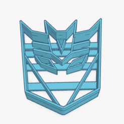Download 3D print files Cookie Cutter Decepticon Transformers Cortante Galletita, ELREYSALE