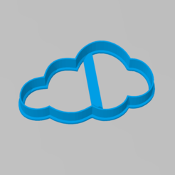 cloud_cutter.PNG Download STL file Cookie Cutter Cloud Cookie Cutter Cloud • 3D printing template, ELREYSALE