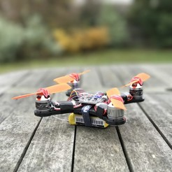 Descargar Modelos 3D para imprimir gratis 140 Sized Quadcopter - By 3DEX, 3DexLtd