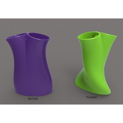 Twin Vase.jpg Download free STL file Twin Vase • Design to 3D print, E_Sanjuan