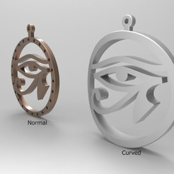 Eye of Horus pendant.jpg Download STL file Colgante Ojo de Horus  • 3D printing design, E_Sanjuan