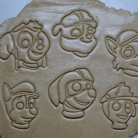 "_SAM2536.JPG Download STL file Cookie Cutters ""Pow Patrol"" • 3D printable design, DaGov007"