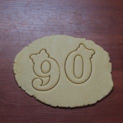 "IMG_7568.JPG Download STL file Cookie cutters ""Numbers with bow"" • 3D print model, DaGov007"