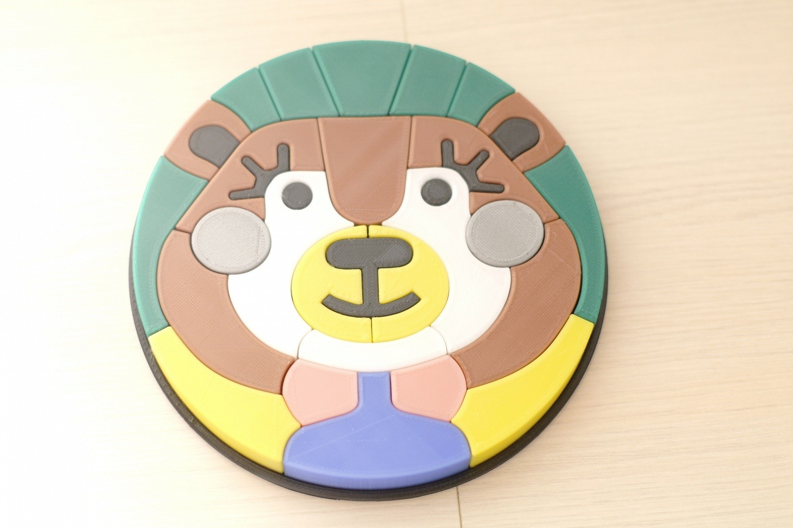 40a1e3f9edfd44f55475c2e6b2201455.JPG Download STL file The Bear puzzle • 3D printable template, DaGov007
