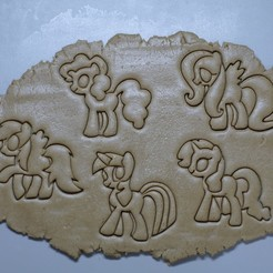 "3d printer files COOKIE CUTTERS ""LITTLE PONY"", DaGov007"