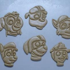 "3d model Cookie Cutters ""Pow Patrol"", DaGov007"