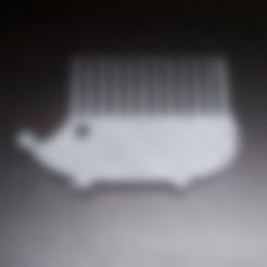 Download free STL file Hedgehog Comb • 3D printing template, NateCreate