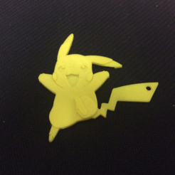 Free stl Pikachu Key Chain, NateCreate