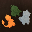 Free Bulbasaur Key chain STL file, NateCreate