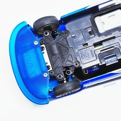 20200405_190216.jpg Download free STL file Front Bumper for Kyosho Mini-Z AWD Subaru Impreza WRC RC car (1:24) • 3D printing design, TomV