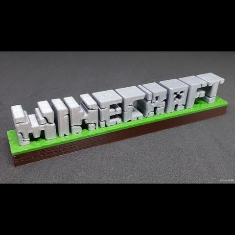 Télécharger fichier imprimante 3D gratuit Minecraft 3D logo, TomV
