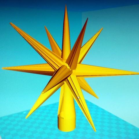 Télécharger modèle 3D gratuit ETOILE pour sapin de noël ・ Cults