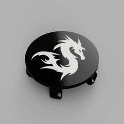 BMW-Dragon01-Rims-Cap-Flat-Face2.png Download free STL file Wheel Center Cap diameter 68mm Dragon01 Bicolor for BMW vehicle • 3D printing template, DaGoN