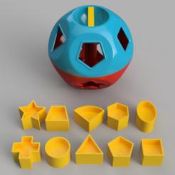 Tupperware Shape-O-Ball (1).PNG Download free STL file Vintage Tupperware Shape-O-Ball • 3D printable object, DaGoN