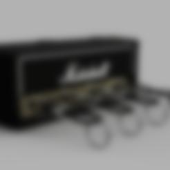 Coque.stl Télécharger fichier STL gratuit Marshall Amplifier Style Keychain Holder • Plan pour impression 3D, DaGoN