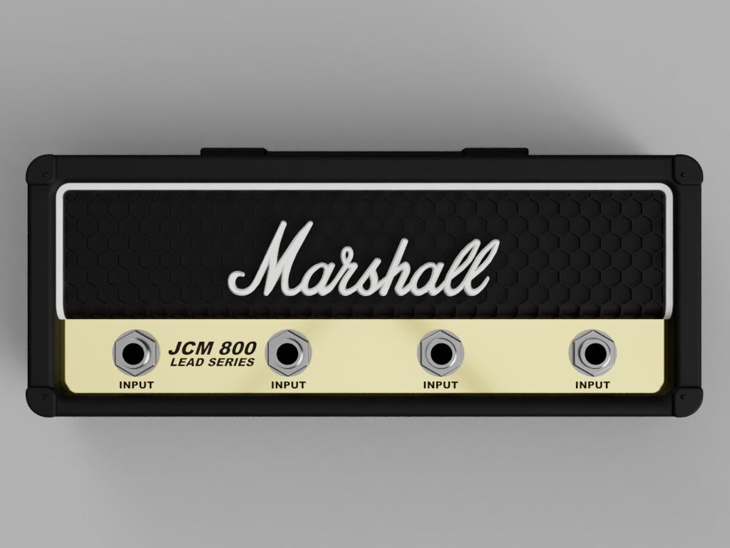 Marshall_JCM800_2019-Sep-23_03-43-20PM-000_CustomizedView18483817776.png Télécharger fichier STL gratuit Marshall Amplifier Style Keychain Holder • Plan pour impression 3D, DaGoN