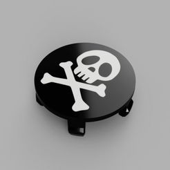 BMW-Harlock-Rims-Cap-Flat-Face2.png Download free STL file Wheel Center Cap diameter 68mm Captain Harlock Albator Bicolor for BMW vehicle • 3D printing object, DaGoN