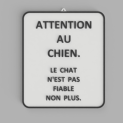 ATTENTION_AU_CHIEN.png Télécharger fichier STL gratuit Sign ATTENTION AU CHIEN • Design pour impression 3D, DaGoN