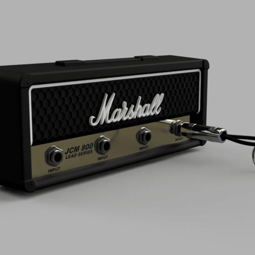Marshall_JCM800_2019-Sep-30_12-36-00PM-000_CustomizedView9455741577.png Télécharger fichier STL gratuit Marshall Amplifier Style Keychain Holder • Plan pour impression 3D, DaGoN