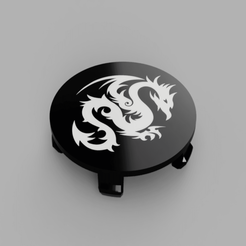 BMW-Dragon03-Rims-Cap-Flat-Face2.png Download free STL file Wheel Center Cap diameter 68mm Dragon03 Bicolor for BMW vehicle • Template to 3D print, DaGoN