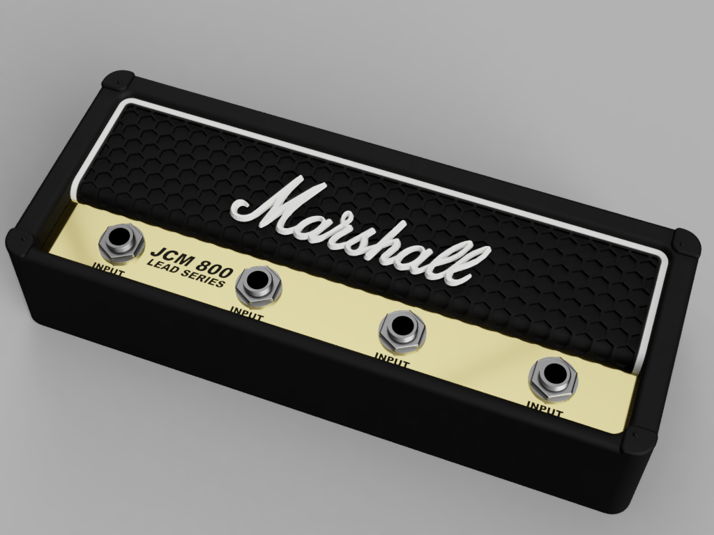 Marshall_JCM800_2019-Sep-23_03-43-35PM-000_CustomizedView9813402846.png Télécharger fichier STL gratuit Marshall Amplifier Style Keychain Holder • Plan pour impression 3D, DaGoN