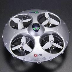 9934f0a14e7b29d1110d7f87f4163eae_preview_featured.jpg Download free STL file Cheerson CX-31 UFO feet • 3D printable template, DaGoN