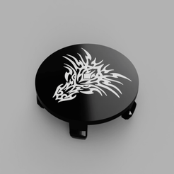 BMW-Dragon02-Rims-Cap-Flat-Face2.png Download free STL file Wheel Center Cap diameter 68mm Dragon02 Bicolor for BMW vehicle • 3D printable template, DaGoN