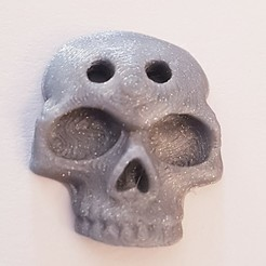 Download free 3D printer designs Skull Shirt Button, DaGoN