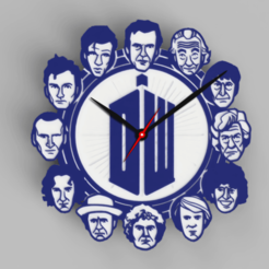 Download free 3D printer templates Doctor Who - 12 Doctors Clock - Ikea STOMMA Clock, DaGoN