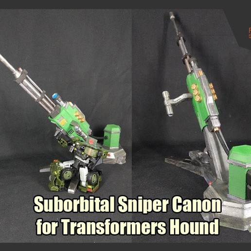 Download 3D printing files Suborbital Sniper Canon for Transformers Hound, FunbieStudios