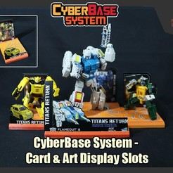 Download free 3D printer designs [CyberBase System] Card & Art Display Slots, FunbieStudios
