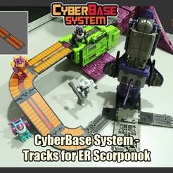 CBS_ScorpTrack_FS.jpg Download STL file CyberBase System - Tracks for Transformers Earthrise Scorponok • 3D printer object, FunbieStudios