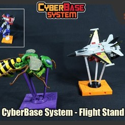 Download 3D printer designs [Cyberbase System] Flight Stand, FunbieStudios