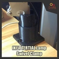 Download 3D print files  3D Printable IKEA Tertial Lamp Swivel Clamp, FunbieStudios
