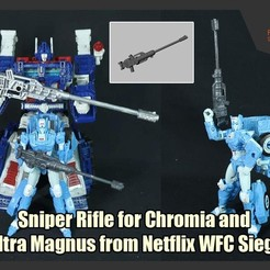 WFC-SniperRifle_FS.JPG Download STL file Sniper Rifle for Chromia and Ultra Magnus from Netflix Transformers WFC Siege • Model to 3D print, FunbieStudios