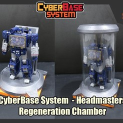 Download STL [CyberBase System] Headmasters Renegeration Chamber, FunbieStudios