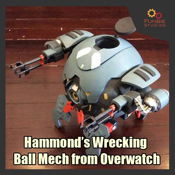 WreckingBall_FS_SQ_02.jpg Download STL file Hammond's Wrecking Ball Mech from Overwatch • 3D printer template, FunbieStudios