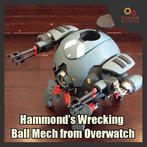 Download STL Hammond's Wrecking Ball Mech from Overwatch, FunbieStudios