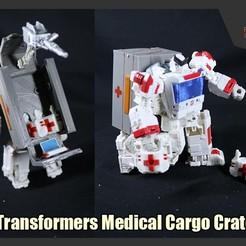 MedicalCargoCrate_FS.JPG Download free STL file Transformers Medical Cargo Crate • 3D printer object, FunbieStudios