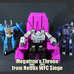 MegThrone_FS.JPG Download STL file Megatron's Throne from Netflix Transformers WFC Siege • 3D printable design, FunbieStudios