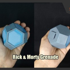 RAM_Grenade_FS.jpg Download free STL file Rick and Morty Grenade • Design to 3D print, FunbieStudios