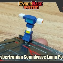 Download free STL file [CyberBase System] Cybertronian Soundwave Lamp Post, FunbieStudios