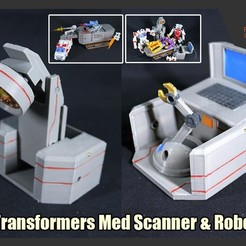 Download 3D printer templates Transformers Med Scanner & Med Robot for Final Combined Trailer & Med Suite, FunbieStudios